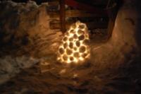 Snølykt utafor hytta